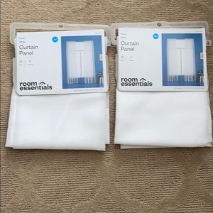 NWT White sheer curtains (set of 2)